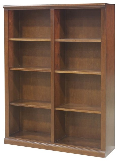 6-Shelf Double Wide Bookcase, Havana Gold.