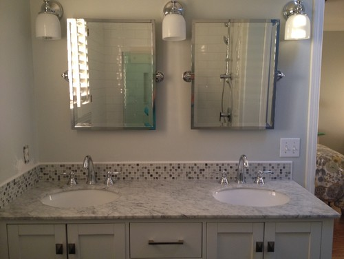 Bathroom Mirror Not Over Sink need bathroom sink/mirror/sconce advice asap!!