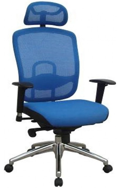 Modern blue office chair modern office chairs by vig furniture