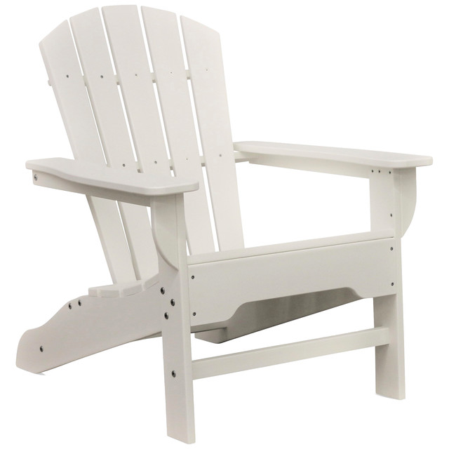 Boca Raton Adirondack Chair Light Gray  sc 1 st  Houzz & Boca Raton Adirondack Chair Light Gray - Transitional - Adirondack ...