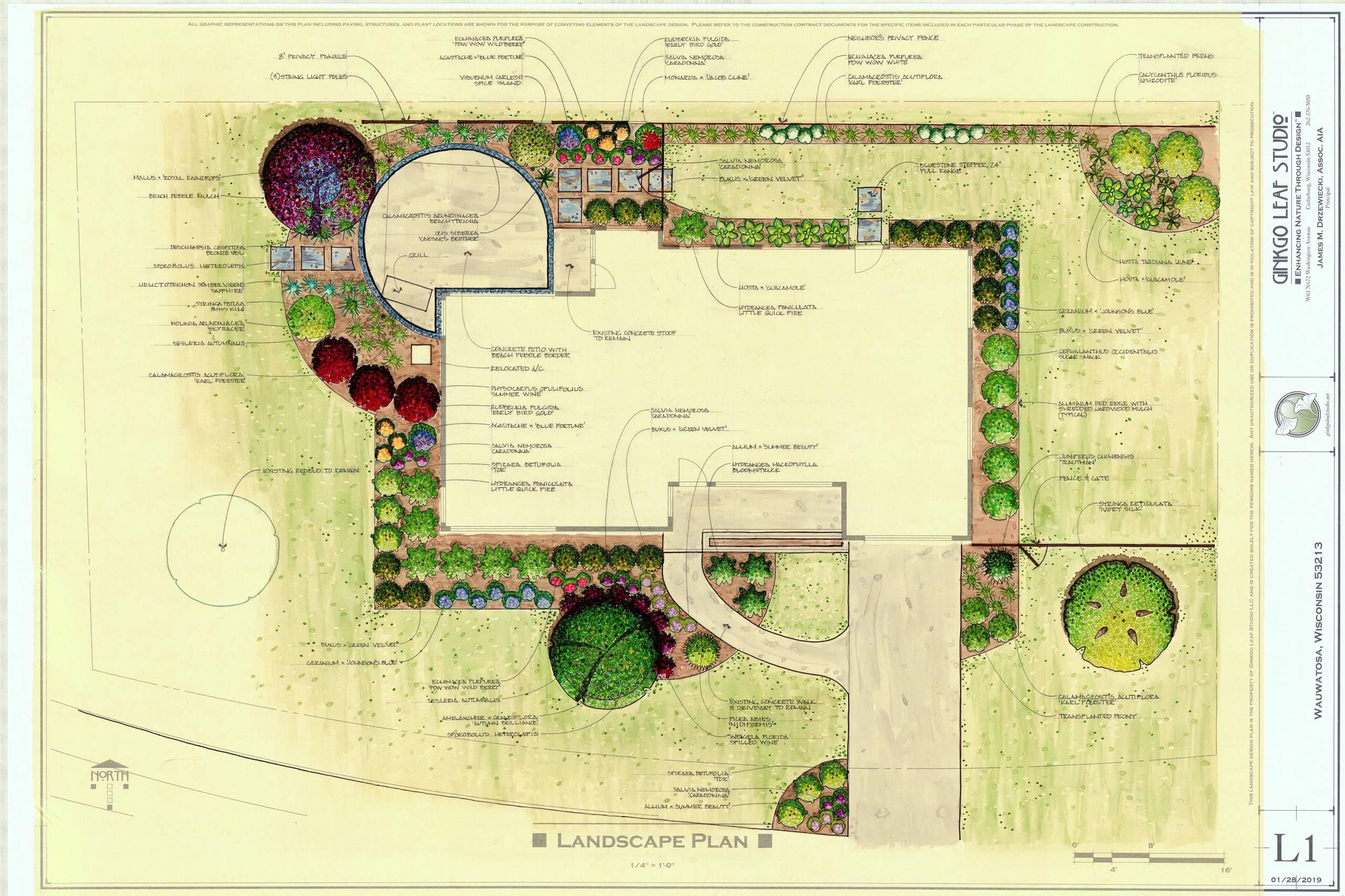Mid century Landscape Renovation - Wauwatosa