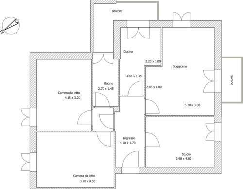 Progetto casa 80 mq excellent arredamento casa da uac for Piani di casa cad gratuiti