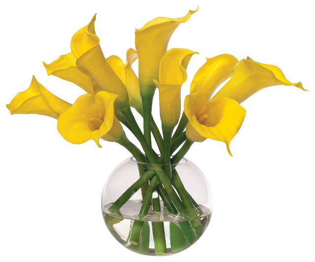 Calla lily silk flower centerpiece contemporary artificial calla lily silk flower centerpiece yellow mightylinksfo