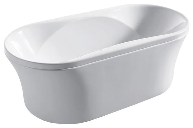 "Luzano - Luxury Acrylic Modern Bathtub 67""."