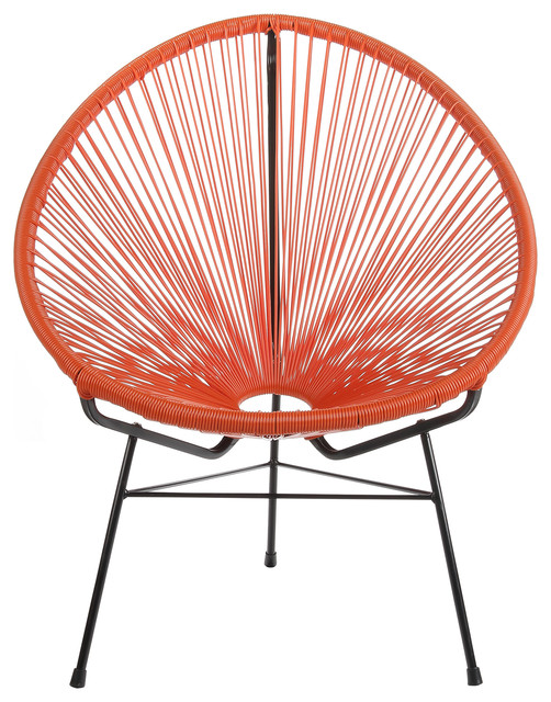 Acapulco Lounge Chair, Indoor And Outdoor, Orange.