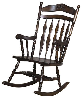 Etonnant Coaster Rocking Chair, Walnut Finish   Traditional   Rocking Chairs   By  Homesquare