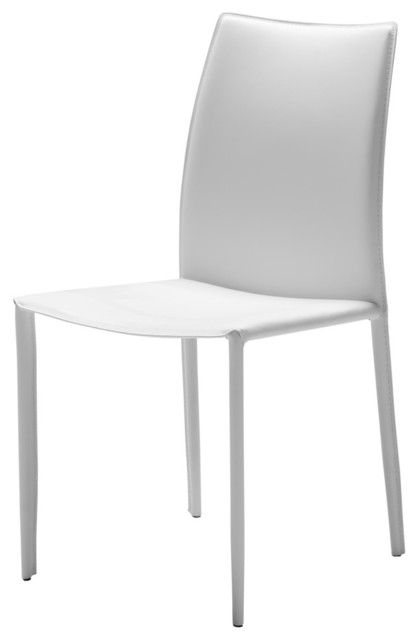 Zak Dining Chairs, White, Set Of 2.