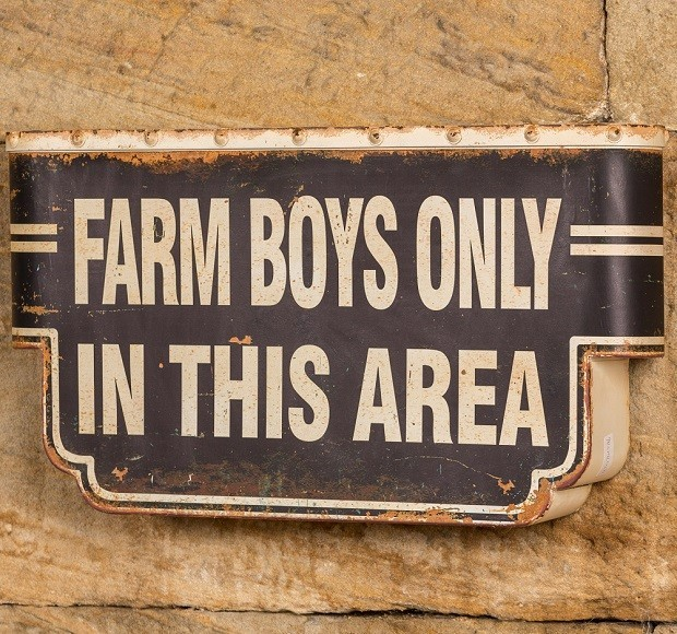 Metal Quot Farm Boys Only Quot Sign 42 00 Miami By Antique