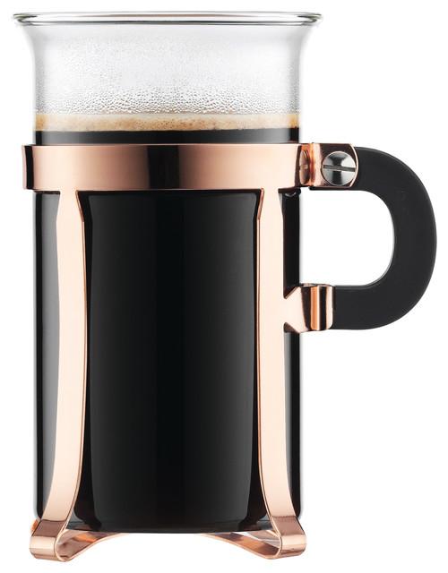 Bodum Chambord 2-Piece Coffee Glass, Copper