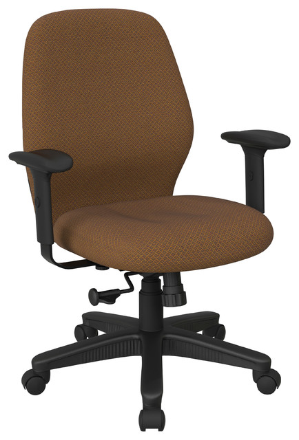 Mid Back Synchro Tilt Chair Adjustable Arms Contemporary Office Chairs By Office Star Products