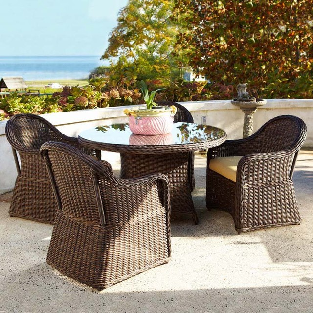 Anacara Mariner All Weather Wicker Patio Dining Set An185 Contemporary Furniture And Outdoor By Hayneedle