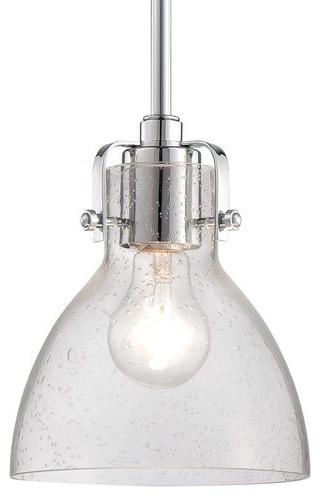Lavery Pendant Light Chrome transitional-pendant-lighting  sc 1 st  Houzz & Minka Lavery 2244-77 Retro Glass 1 Light 8