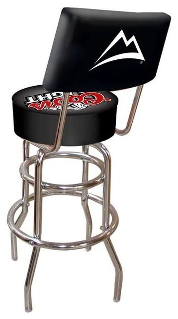 Shop Houzz Trademark Global Padded Bar Stool W Backrest