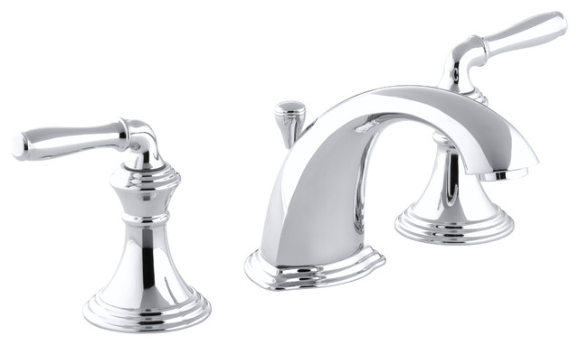 Signature Hardware Victorian Widespread Bathroom Faucet: Devonshire(r) Widespread Bathroom Sink Faucet With Lever
