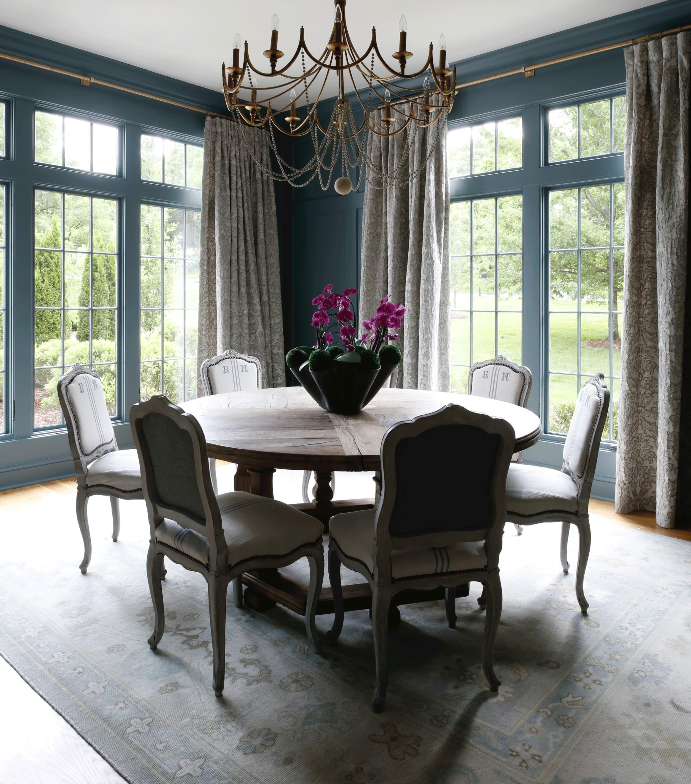 Deep Blue Dining Room