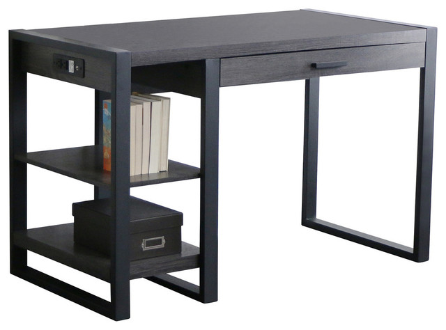 Walker Edison 48 Urban Blend Computer Desk Industrial Desks