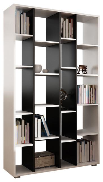 Doco Bookcase, White And Black.