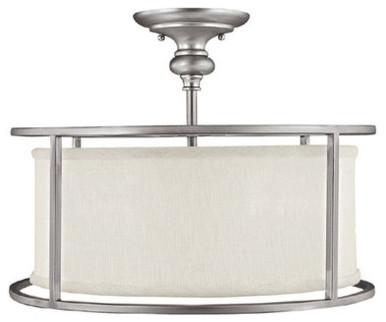 Capital Lighting 3914-459 3 Light Semi-Flush Fixture.