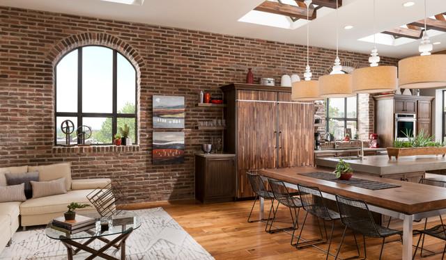 Brick Kitchen Accent Wall Classique Salle A Manger