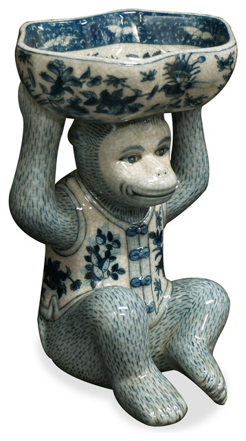 China Furniture And Arts Hand Painted Porcelain Monkey