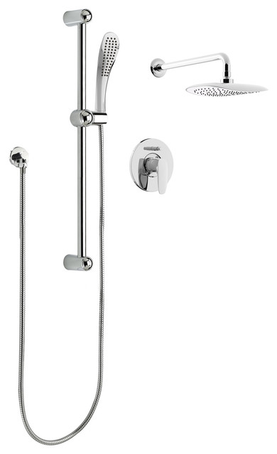 Belanger Oval Rain Shower Faucet With Pressure Balanced Diverter