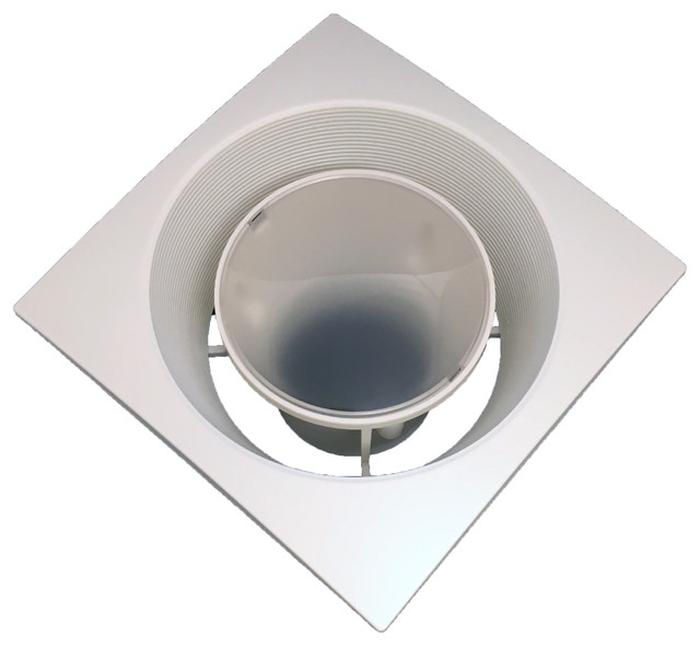Lens Cover For Fan-In-A-Can With Square Trim.
