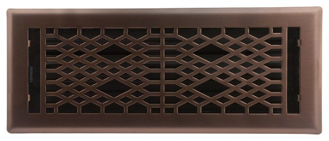 Light Oil Rubbed Bronze Cathedral Floor Register 4 Quot X10