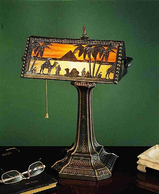 """Desk Lamps 16 5"""" High Camel Mission Bankers Lamp"""