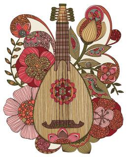 Ever Mandolin Instrument Wall Decal by Valentina Harper - Contemporary ...