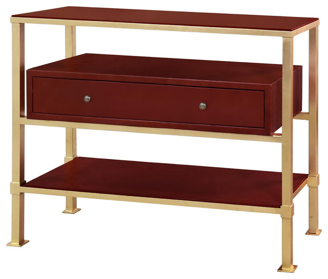 Bungalow 5 - Bungalow 5 Marcel 1 Drawer Console in Gold - View in Your Room! | Houzz