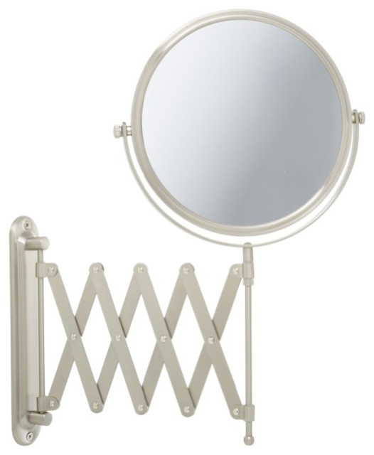 Jerdon Jp2027n 8-Inch Two-Sided Swivel Wall Mount Mirror With 7x Magnification.