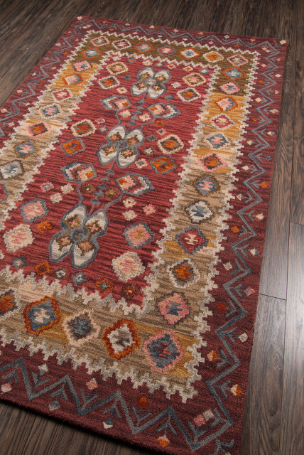 Tangier Hand-Hooked Rug, Red, 8'x11'