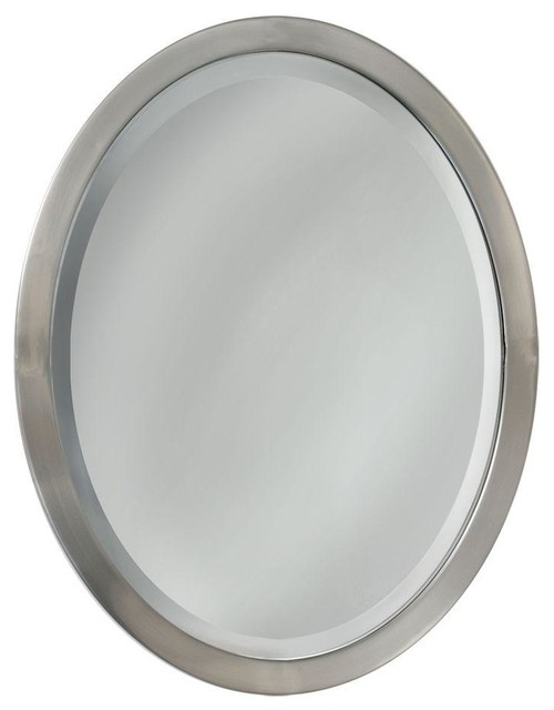 Pacific Oval Mirror Brushed Nickel