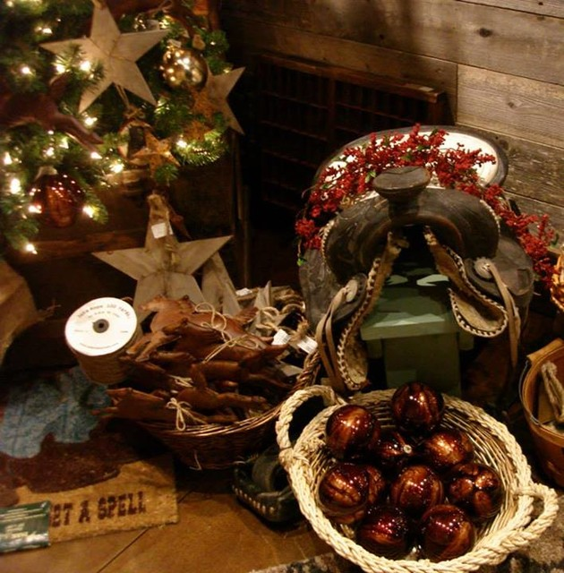 western christmas decor rustic