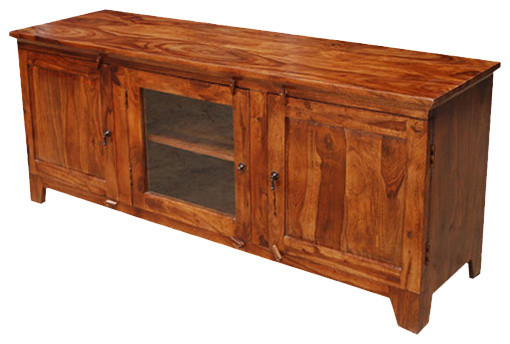 Santa Fe Rustic Wood TV Media Console Entertainment Centers And Tv Stands