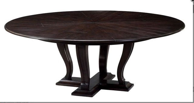 large round transitional dining table 64 to 84 round to round dining