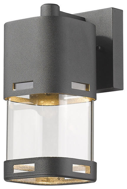 1 Light Outdoor Wall Light, Clear