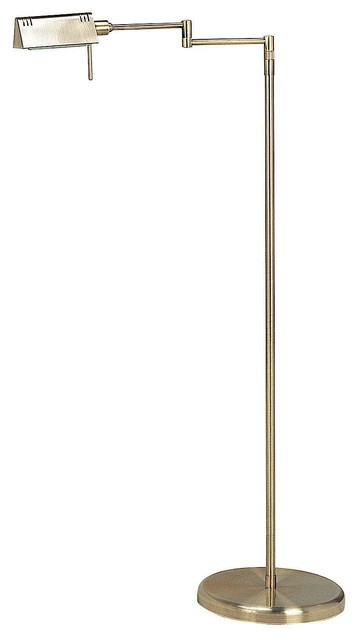 Pharma 1-Light Floor Lamps, Antique Brass.