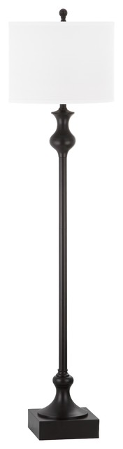 Brewster Floor Lamp, White Shade.