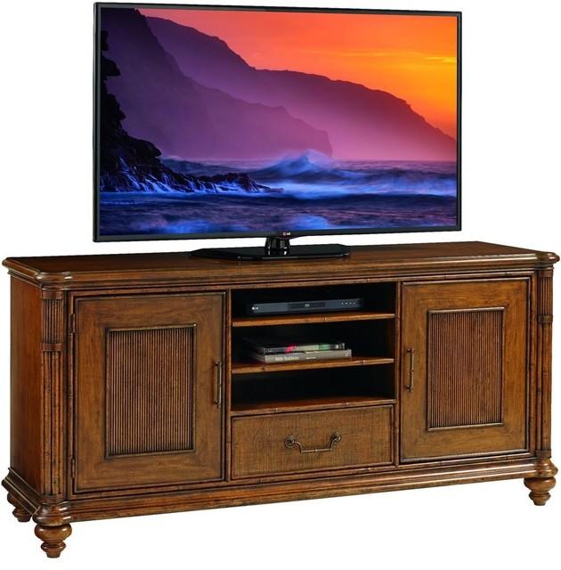 Tommy Bahama Bali Hai Pelican Cay Tv Stand Warm Brown