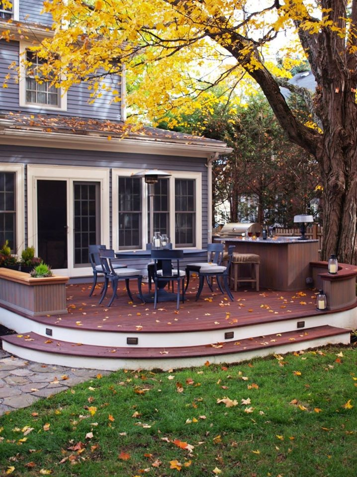 Inspiration for a craftsman patio kitchen remodel in Boston