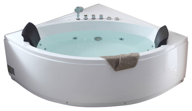 5u0027 Rounded Modern Double Seat Corner Whirlpool Bath Tub With Fixtures