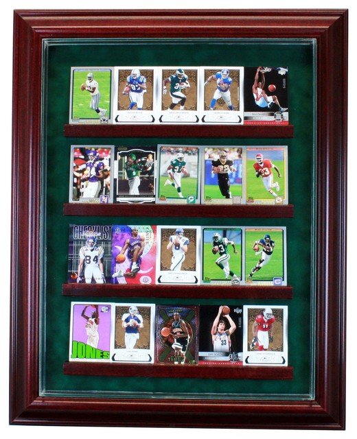 20 Card Cabinet Style Display Case - Traditional - Storage And Organization - by Perfect Cases, Inc.
