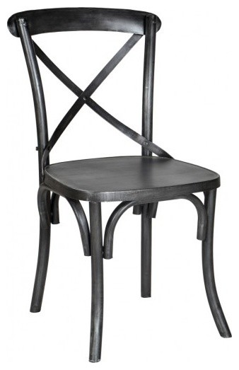 Lovely Metal Industrial X Back Chair