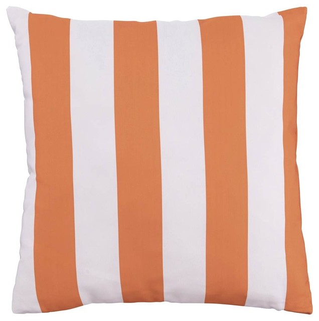 Orange And White Decorative Pillows : Shop Houzz Ashley Furniture Homestore Pillow in Orange and White, Set of 4 - Decorative Pillows