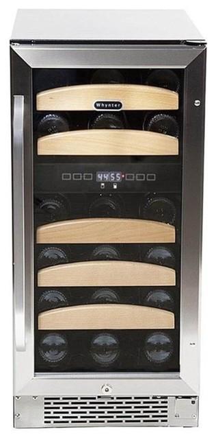 24 Dual Temperature Zone Built-In Wine Refrigerator.