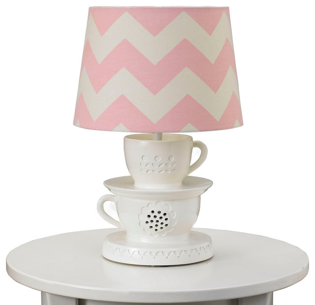 Childrens Wall Lamp Shades : Teacup Lamp Base & Shade - Eclectic - Kids Lamps - by Living 63