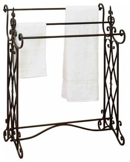 Old World Charm Metal Towel Rack, Antique Bronze - Mediterranean - Towel Racks & Stands - by ABC ...