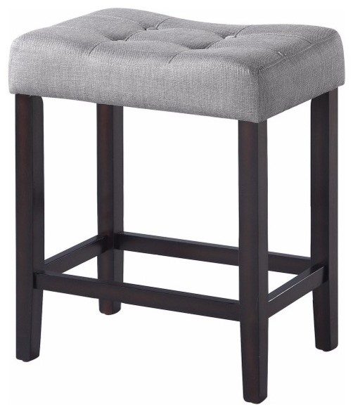 Fabulous Backless Modern Counter Height Stool Gray Brown Set Of 2 Forskolin Free Trial Chair Design Images Forskolin Free Trialorg