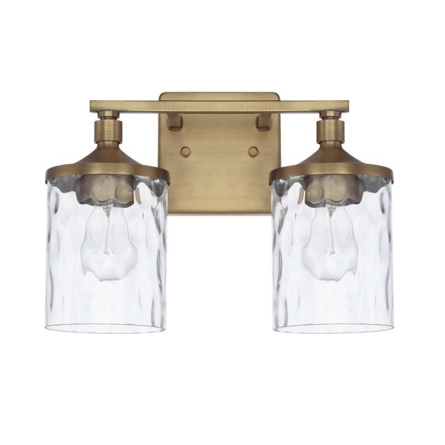 Colton 128821Ad-451 2-Light Vanity, Aged Brass